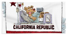 California Is Sick Beach Towel