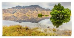 California Kaweah Lake Scene Beach Towel