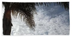 California Palm Tree Half View Beach Towel