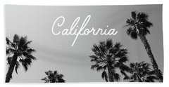 California Palm Trees By Linda Woods Beach Towel