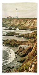 California - Point Arena Coastline Beach Towel
