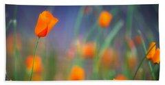 California Poppies 2 Beach Sheet