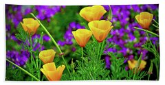 California Poppies Beach Sheet