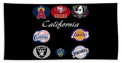 California Professional Sport Teams Collage  Beach Towel