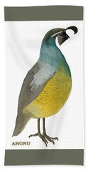 California Quail Posing Beach Towel