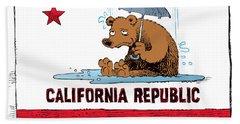 California Rain Beach Towel