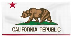 California Republic State Flag Authentic Version Beach Towel