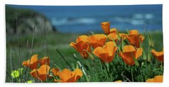 California State Flower - The Poppy Beach Towel