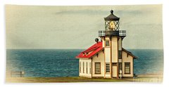 California - State Historic Park Point Cabrillo Lighthouse Beach Towel