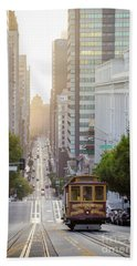 California Street Sunrise Beach Towel by JR Photography