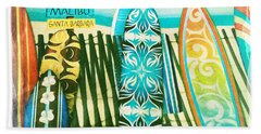 California Surfboards Beach Towel by Nina Prommer