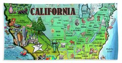 California Usa Beach Towel
