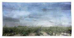 California Vineyard- Art By Linda Woods Beach Towel