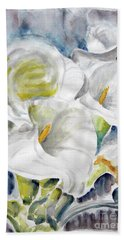 Beach Sheet featuring the painting Calla by Jasna Dragun