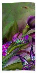 Calla Lilies Beach Towel by Carol Cavalaris