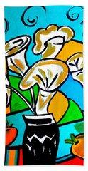 Calla Lilies Fiesta Beach Towel