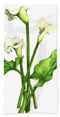 Beach Towel featuring the painting Calla Lilly by Heidi Kriel