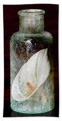 Beach Towel featuring the photograph Calla Lily In A Bottle by Phyllis Denton