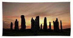 Beach Sheet featuring the photograph Callanish Stones by Grant Glendinning