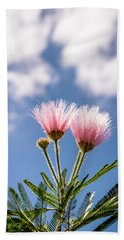 Calliandra Flowers Beach Towel by Lana Enderle