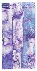 Beach Towel featuring the mixed media Calling Upon Spirit Animals by Prerna Poojara