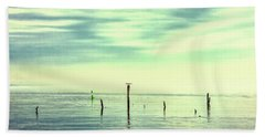 Beach Towel featuring the photograph Calm Bayshore Morning N0 1 by Gary Slawsky