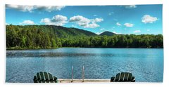 Calm In The Adirondacks Beach Sheet by David Patterson