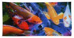 Calm Koi Fish Beach Towel