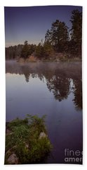 Beach Towel featuring the photograph Calm Morning by Steven Reed