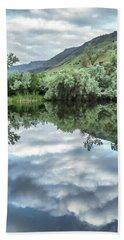 Calm Pond - Cloud Reflections Beach Towel