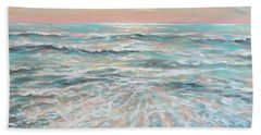 Beach Towel featuring the painting Calm Seas by Linda Olsen