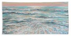 Beach Sheet featuring the painting Calm Seas by Linda Olsen