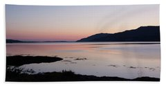 Calm Sunset Loch Scridain Beach Towel