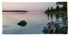 Calm Water At Lake Huron Crystal Point Beach Sheet