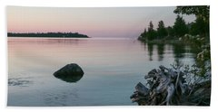 Beach Towel featuring the photograph Calm Water At Lake Huron Crystal Point by Kelly Hazel