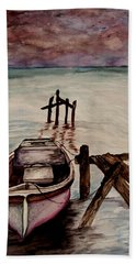 Beach Towel featuring the painting Calm Waters by Lil Taylor