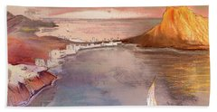 Calpe At Sunset Beach Towel