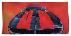 Camaro - Forged By Fire Beach Towel by Theresa Tahara