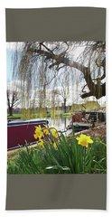 Beach Sheet featuring the photograph Cambridge Riverbank In Spring by Gill Billington