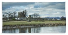 Cambuskenneth Abbey And The River Forth Beach Sheet