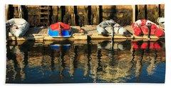 Camden Boats Beach Towel