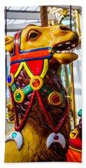 Camel Carrousel Ride Beach Sheet by Garry Gay