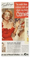 Camel Cigarette Ad, 1951 Beach Towel