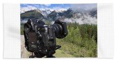 Camera Mountain Beach Sheet