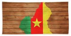 Cameroon Rustic Map On Woo Beach Towel
