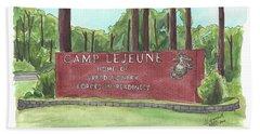 Camp Lejeune Welcome Beach Sheet