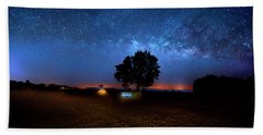 Camp Milky Way Beach Towel by Mark Andrew Thomas