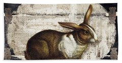 Campagne Iv Rabbit Farm Beach Towel