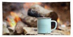 Campfire Coffee Beach Towel