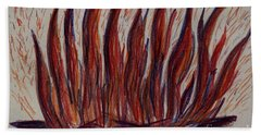 Campfire Flames Beach Towel by Theresa Willingham